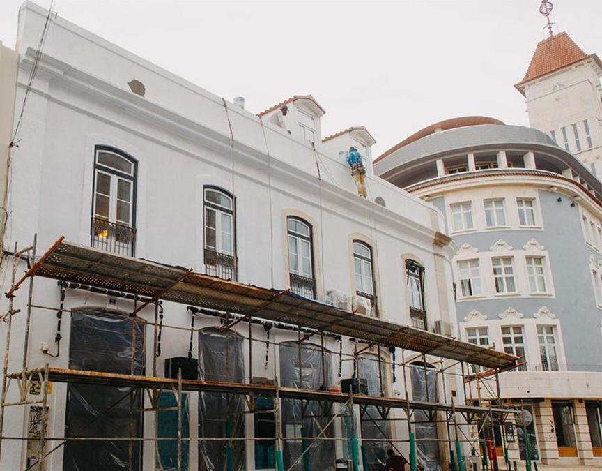 Reparação de fachadas exteriores